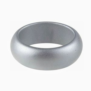 Other - Mens classic wedding band, Silver Silicone Ring